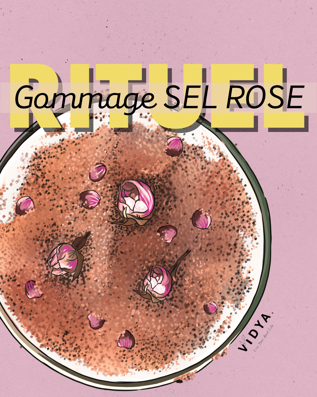 Gommage sel rose